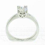 platinum 12-prong fishtail solitaire on plain shank featured