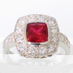 ruby cushion halo ring white gold featured